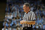 20 January 2016: Referee Tim Kelly. The University of North Carolina Tar Heels hosted the Wake Forest University Demon Deacons at the Dean E. Smith Center in Chapel Hill, North Carolina in a 2015-16 NCAA Division I Men's Basketball game. UNC won the game 83-68.
