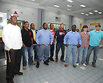 Lafayette High players who signed a National Letter of Intent to play football pose in Oxford, Miss. on Wednesday, February 1, 2012.