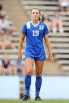 22 August 2014: Duke's Schuyler DeBree. The Duke University Blue Devils played The Ohio State University Buckeyes at Fetzer Field in Chapel Hill, NC in a 2014 NCAA Division I Women's Soccer match. Ohio State won the game 1-0.