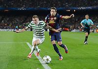 FUSSBALL   INTERNATIONAL   CHAMPIONS LEAGUE   2012/2013      FC Barcelona - Celtic FC Glasgow       23.10.2012 Jordi Alba (re, Barca) gegen James Forrestn (Celtic)
