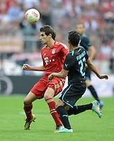 FUSSBALL   1. BUNDESLIGA  SAISON 2012/2013   7. Spieltag FC Bayern Muenchen - TSG Hoffenheim    06.10.2012 Javi , Javier Martinez (li, FC Bayern Muenchen) gegen Roberto Firmino (TSG 1899 Hoffenheim)