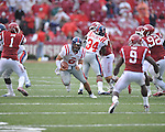 Ole Miss quarterback Jeremiah Masoli (8)at Reynolds Razorback Stadium in Fayetteville, Ark. on Saturday, October 23, 2010.
