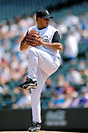 26 August 2007:  Colorado Rockies starting pitcher Elmer Dessens in action against the Washington Nationals at Coors Field in Denver, Colorado. The Rockies defeated the Nationals 10-5 to sweep the 3-game series...Mandatory Photo Credit: Ed Wolfstein Photo
