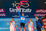 Jan Polanc (SLO) UAE Team Emirates retains the mountains Maglia Azzura at the end of Stage 6 of the 100th edition of the Giro d'Italia 2017, running 217km from Reggio Calabria to Terme Luigiane, Italy. 11th May 2017.<br /> Picture: LaPresse/Simone Spada   Cyclefile<br /> <br /> <br /> All photos usage must carry mandatory copyright credit (&copy; Cyclefile   LaPresse/Simone Spada)