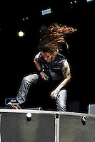 DERBYSHIRE, ENGLAND - AUGUST 12:  Robby J. of 'Stuck Mojo' performing at Bloodstock Open Air Festival, Catton Park on August 12, 2016 in Derbyshire, England.<br /> CAP/MAR<br /> &copy;MAR/Capital Pictures /MediaPunch ***NORTH AND SOUTH AMERICAS ONLY***