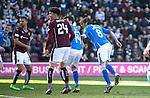 Hearts v St Johnstone&hellip;19.03.16  Tynecastle, Edinburgh<br />Murray Davidson heads the ball in to make it 1-0<br />Picture by Graeme Hart.<br />Copyright Perthshire Picture Agency<br />Tel: 01738 623350  Mobile: 07990 594431