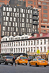 Corner of West 12th Street in the meatpacking district in New York City on a winter day
