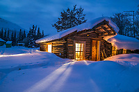 Historic log cabin in Wiseman, AlaskaHistoric log cabin in Wiseman, Alaska