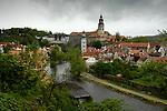 View of the town of Czesky Krumlov, Czech Republic. © Michael Brands. 970-379-1885.