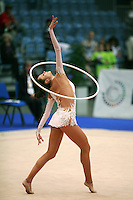 Anna Bessonova of Ukraine performs with hoop at 2008 Portimao World Cup of Rhythmic Gymnastics on April 18, 2008.  (Photo by Tom Theobald).