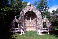 Caraquet, NB, New Brunswick, Canada - Monument to Our Lady of the Assumption / Sainte-Anne-du-Bocage Shrine, a Catholic Sanctuary