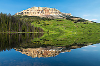 Beartooth Lake and Red Mountain on the Beartooth Plateau of Northwest Wyoming