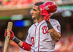 22 May 2015: Washington Nationals shortstop Ian Desmond in action against the Philadelphia Phillies at Nationals Park in Washington, DC. The Nationals defeated the Phillies 2-1 in the first game of their 3-game weekend series. Mandatory Credit: Ed Wolfstein Photo *** RAW (NEF) Image File Available ***