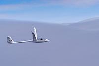 Segelflug, Segelflugzeug, ASH 25 EB, Doppelsitzer, Offene Klasse, Welle, Lenticularis, über den Wolken, Wolke, Wetter