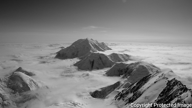 Mount Foraker from the 17,200-foot camp on Denali's West Buttress route, Alaska Range.