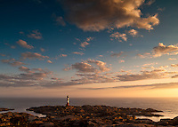 Sunset at Eigerøy lighthouse, Rogaland, Norway.