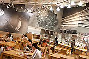 Interior view of 'Muji Meal' cafe in the Muji flagship store in Yurakucho district of Tokyo, Japan. Tuesday 27th April 2010.