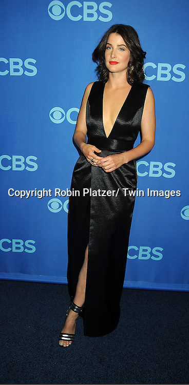 Cobie Smulders attend the CBS Prime Time 2013 Upfront on May 15, 2013 at Lincoln Center in New York City.