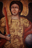 A gilded icon of the archangel Michael, painted in the 19th century, once hung in an Eastern Orthodox Church in Sinop.