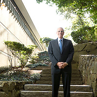 Michael J. Critelli, Executive Chairman of Pitney Bowes Inc., poses for the photographe at the company's headquarters in Stamford, CT, United States, 7 October 2008.