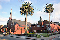 St. Mary's By the Sea Episcopal Church, 1887  & Parish House, 1893. Pacific Grove CA. Coxhead & Coxhead. Photo '85.