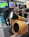 October 19, 2011, Tokyo, Japan - A security camera with tracking capabilities is on display during Risk Management Expo in Tokyo on Wednesday, October 19, 2011. Members of domestic and foreign law enforcement communities were among visots to the annual security and safety trade show that covered the fields of safety, risk and crisis management, and security and crime prevention. (Photo by Natsuki Sakai/AFLO) [3615] -mis-