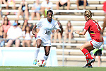 06 October 2013: North Carolina's Crystal Dunn (19). The University of North Carolina Tar Heels hosted the University of Maryland Terrapins at Fetzer Field in Chapel Hill, NC in a 2013 NCAA Division I Women's Soccer match. UNC won the game 3-1.