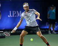 Seven-time champion Roger Federer fell to a stunning 3-6 7-6 (7) 7-6 (5) defeat at the hands of qualifier Evgeny Donskoy on Wednesday. It is his earliest defeat in the Dubai Duty Free Tennis Championships since he was beaten by Andy Murray in the first round in 2008