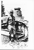 Camp Meade, Maryland - Undated file photo -- Captain Dwight D. Eisenhower at Camp Meade, Maryland, Tank Center circa 1919 or 1920..Credit: U.S. Army photo / CNP