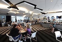 LIVESTRONG Sporting Park restaurant... Sporting KC defeated San Jose Earthquakes 1-0 at LIVESTRONG Sporting Park, Kansas City, Kansas.