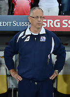 Fussball International  WM Qualifikation 2014   in Bern Schweiz - Island          06.09.2013 Trainer Island Lars Lagerbaeck