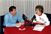 United States President Ronald Reagan was joined by first lady Nancy Reagan in his weekly radio speech to the nation from Camp David, Maryland on Saturday, June 30, 1984.Mandatory Credit: Bill Fitz-Patrick - White House via CNP
