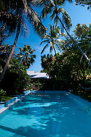 Famous pool in Ernest Hemingway home and museum, Key West, Florida