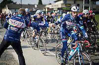 Kenny De Haes (BEL/Wanty-Groupe Gobert) getting handed a bidon en route<br /> <br /> Kuurne-Brussel-Kuurne 2016