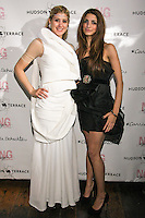 Engie Hassan, and Iman Hussein, pose during the EngieStyle one year anniversary, &quot;A Tale of the Black Dress&quot;, fashion presentation.