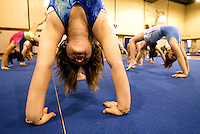 Gymnastics students at La Jolla, CA YMCA. Jan 9, 2003. &copy;FredGreaves2003