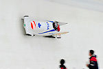 18 December 2010: Helen Upperton pilots her 2-man bobsled for Canada, finishing in 3rd place at the Viessmann FIBT World Cup Bobsled Championships on Mount Van Hoevenberg in Lake Placid, New York, USA. Mandatory Credit: Ed Wolfstein Photo