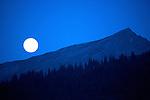 Moonrise near Lake Clark Alaska.