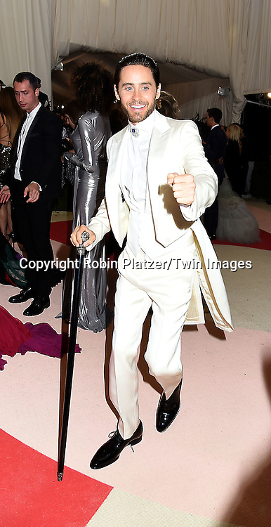 Jared Leto attends the Metropolitan Museum of Art Costume Institute Benefit Gala on May 2, 2016 in New York, New York, USA. The show is Manus x Machina: Fashion in an Age of Technology. <br /> <br /> photo by Robin Platzer/Twin Images<br />  <br /> phone number 212-935-0770