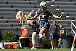 09 September 2012: Marquete's Katie Hishmeh. The Duke University Blue Devils defeated the Marquette University Golden Eagles 5-2 at Koskinen Stadium in Durham, North Carolina in a 2012 NCAA Division I Women's Soccer game.