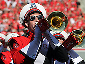 A band member plays on the field prior to the game. NC State defeated Central Michigan 38-24 on Saturday, October 8, 2011 at Carter-Finley Stadium in Raleigh. Photo by Al Drago.