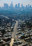SUNSET BLVD 1998-2001 Sunset Blvd aerial view looking towards Downtown Los Angeles skyline &copy;Jonathan Alcorn