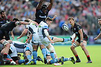 Henry Pyrgos of Glasgow Warriors box-kicks the ball. European Rugby Champions Cup Quarter Final, between Saracens and Glasgow Warriors on April 2, 2017 at Allianz Park in London, England. Photo by: Patrick Khachfe / JMP