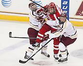 Austin Cangelosi (BC - 26), Nick Roberto (BU - 15), Patrick Brown (BC - 23)<br />  - The Boston College Eagles defeated the visiting Boston University Terriers 6-4 (EN) on Friday, January 17, 2014, at Kelley Rink in Conte Forum in Chestnut Hill, Massachusetts.