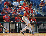 Mississippi's Matt Snyder gets a hit vs. South Carolina during the Southeastern Conference tournament at Regions Park in Hoover, Ala. on Wednesday, May 26, 2010. Ole Miss won 3-0.