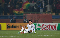 The USA's Benny Feilhaber reacts to losing against Ghana in a second round match of the 2010 FIFA World Cup between USA and Ghana in Rustenberg, South Africa on Saturday, June 26, 2010.  Ghana won 2-1.