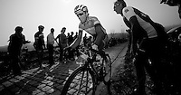 Dwars door Vlaanderen 2012.Sylvain Chavanel up the Patersberg