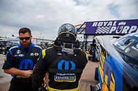 Apr 22, 2017; Baytown, TX, USA; Crew member for NHRA funny car driver Matt Hagan during qualifying for the Springnationals at Royal Purple Raceway. Mandatory Credit: Mark J. Rebilas-USA TODAY Sports