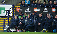 BOLTON, ENGLAND - Saturday, January 26, 2013: Everton's manager David Moyes looks disgruntled during his 500th game in charge of the Blues during the FA Cup 4th Round match against Bolton Wanderers at the Reebok Stadium. (Pic by David Rawcliffe/Propaganda)