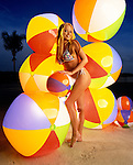 Cindy Margolis photographed in Miami Beach for Entertainment Weekly